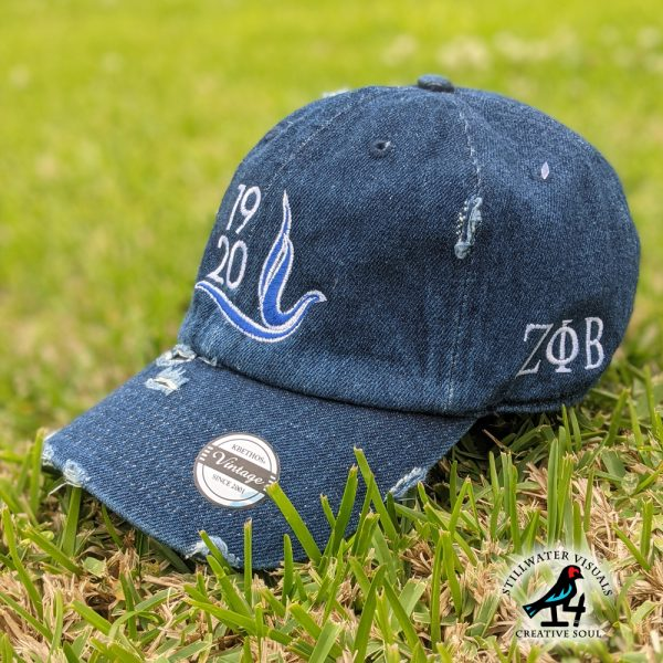 zeta phi beta cap denim hat
