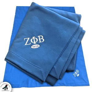 zeta phi beta blanket fleece stadium