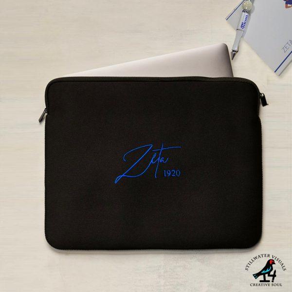 zeta phi beta laptop sleeve