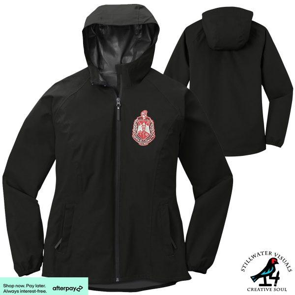 Delta sigma theta rain jacket