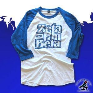 Zeta Phi Beta Raglan