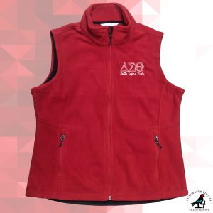 delta sigma theta fleece vest